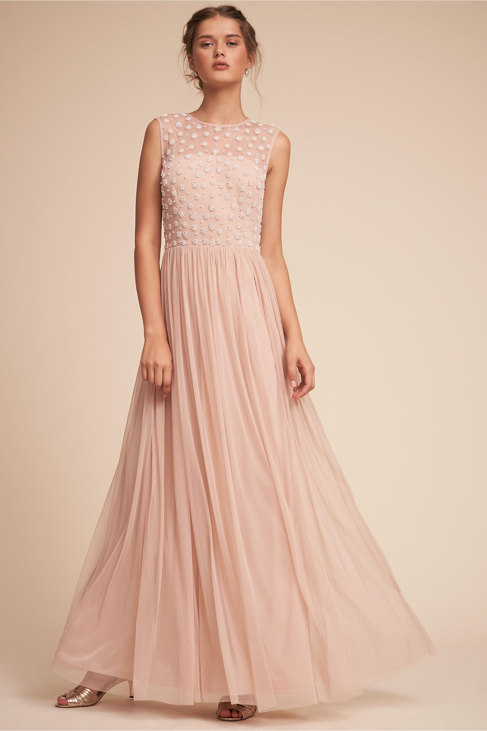 Blush colored light pink bridesmaid dresses bhldn emma dress ombrellifo Choice Image