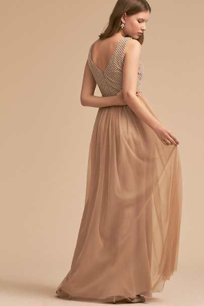 Adrianna Papell Champagne Bryce Dress | BHLDN