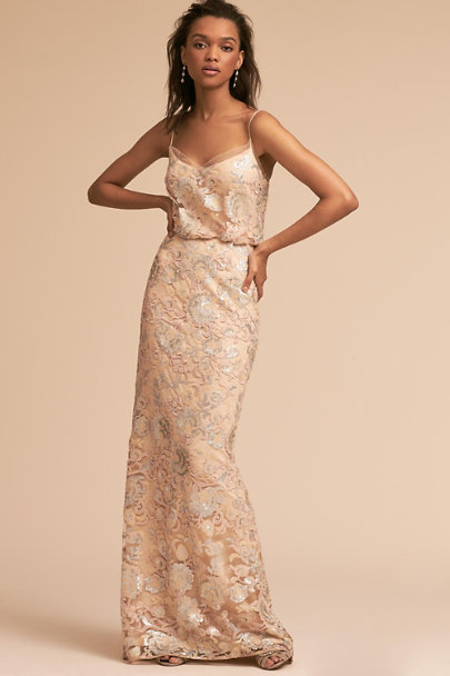 Adrianna Papell Almond Kylie Dress | BHLDN