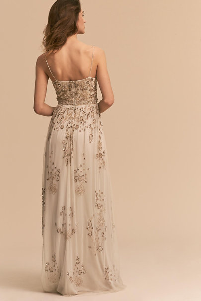Adrianna Papell Ivory Mason Dress | BHLDN