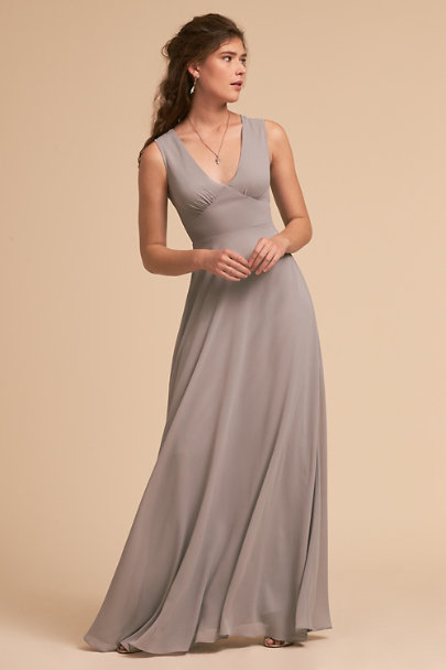 BHLDN Grey Capulet Dress | BHLDN