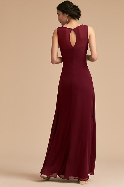 BHLDN Wine Capulet Dress | BHLDN