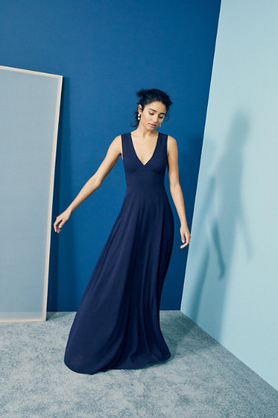 BHLDN Navy Capulet Dress | BHLDN