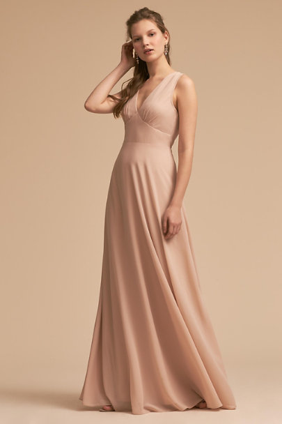 BHLDN Nude Capulet Dress | BHLDN