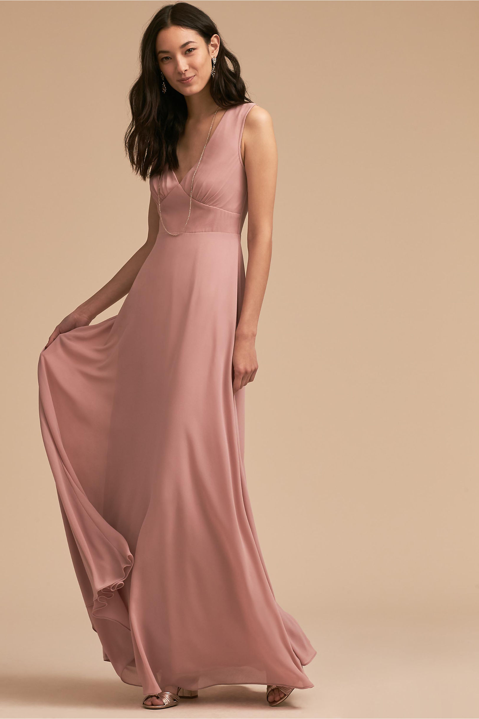 Blush colored light pink bridesmaid dresses bhldn capulet dress ombrellifo Images