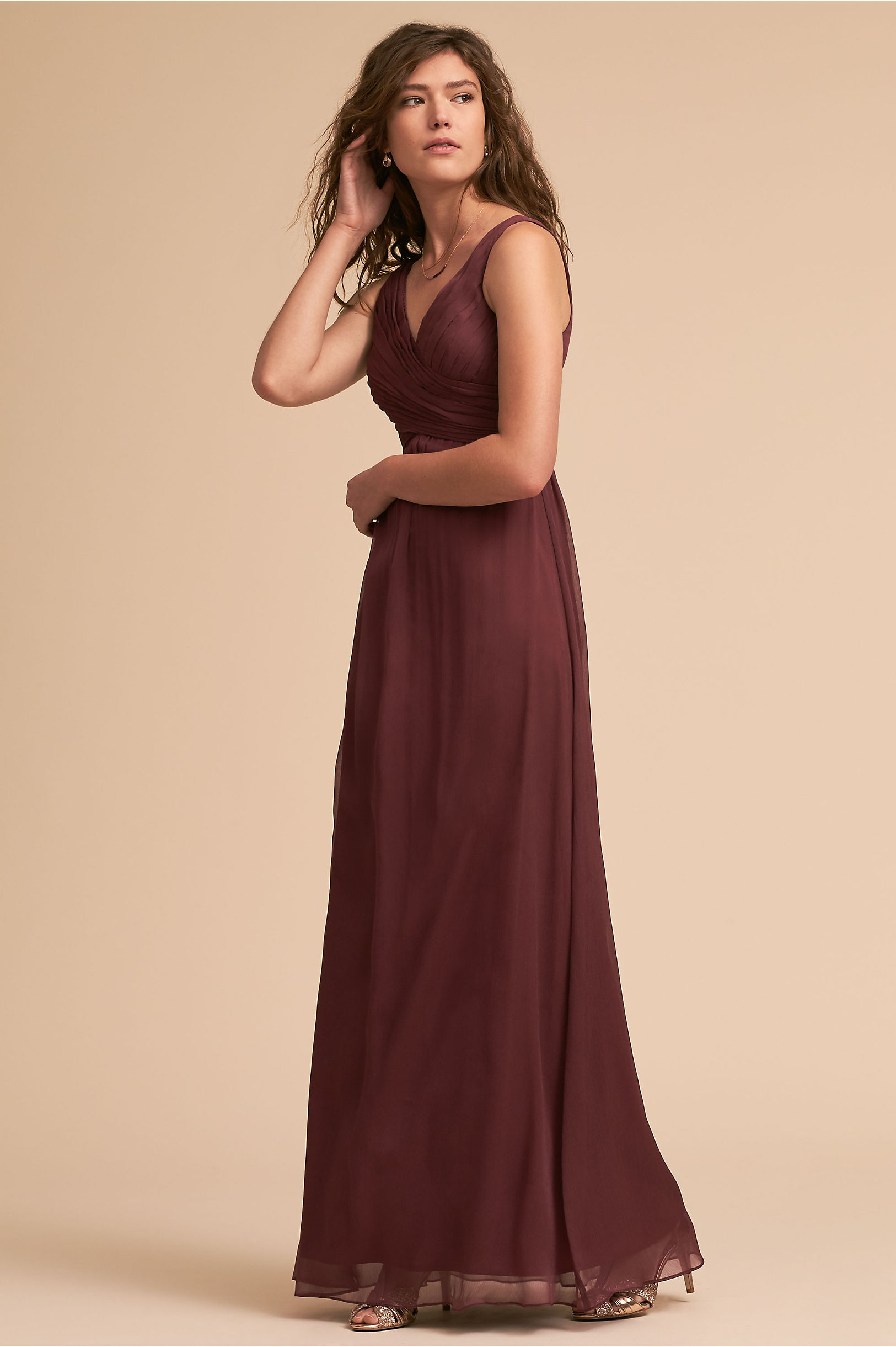 Burgundy red wine colored bridesmaid dresses bhldn angie dress ombrellifo Choice Image