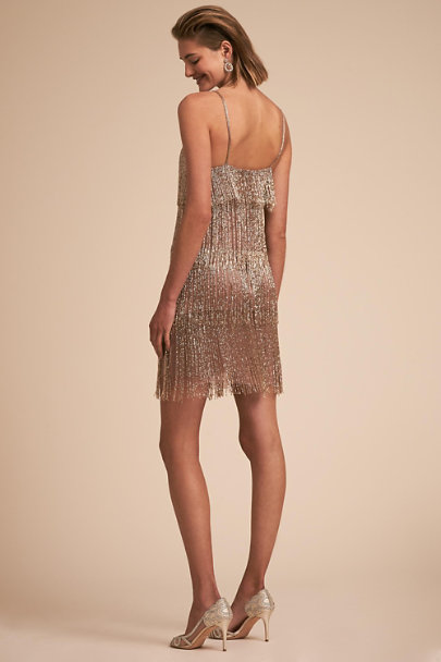 Lara Gold Mulligan Dress | BHLDN