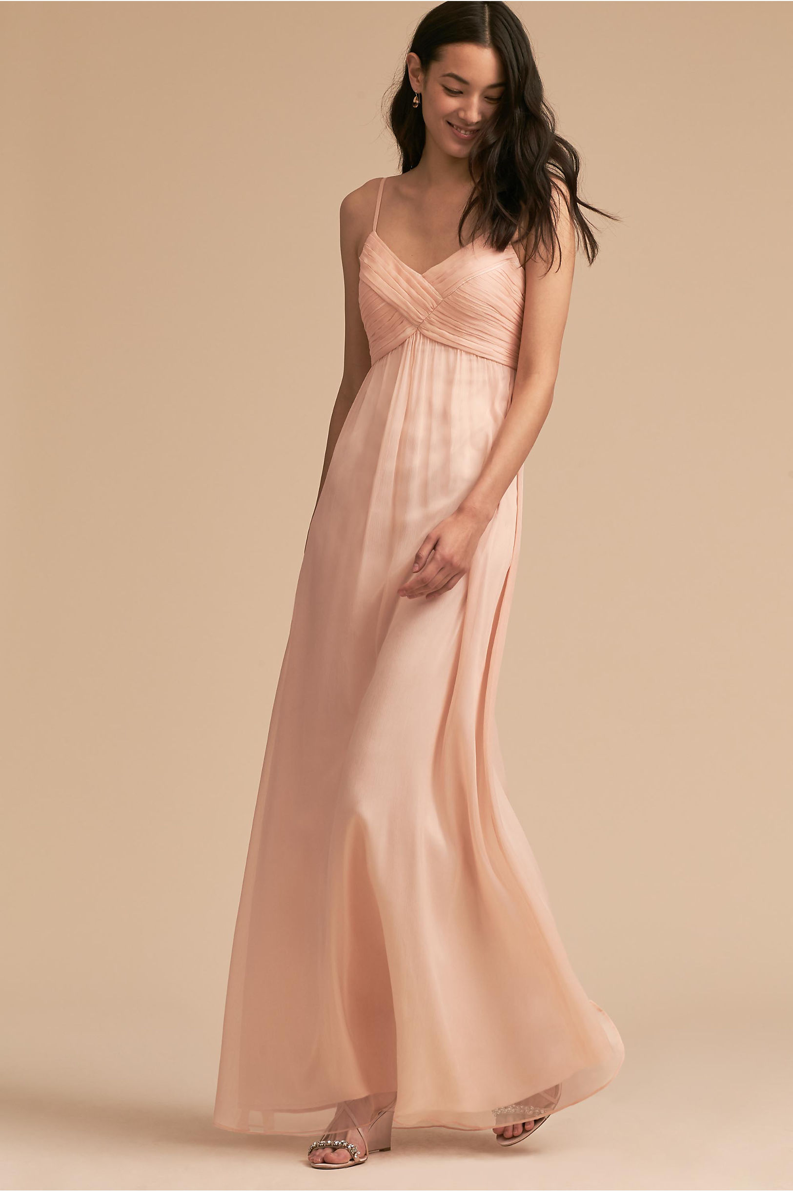 Blush colored light pink bridesmaid dresses bhldn brigitte dress ombrellifo Images