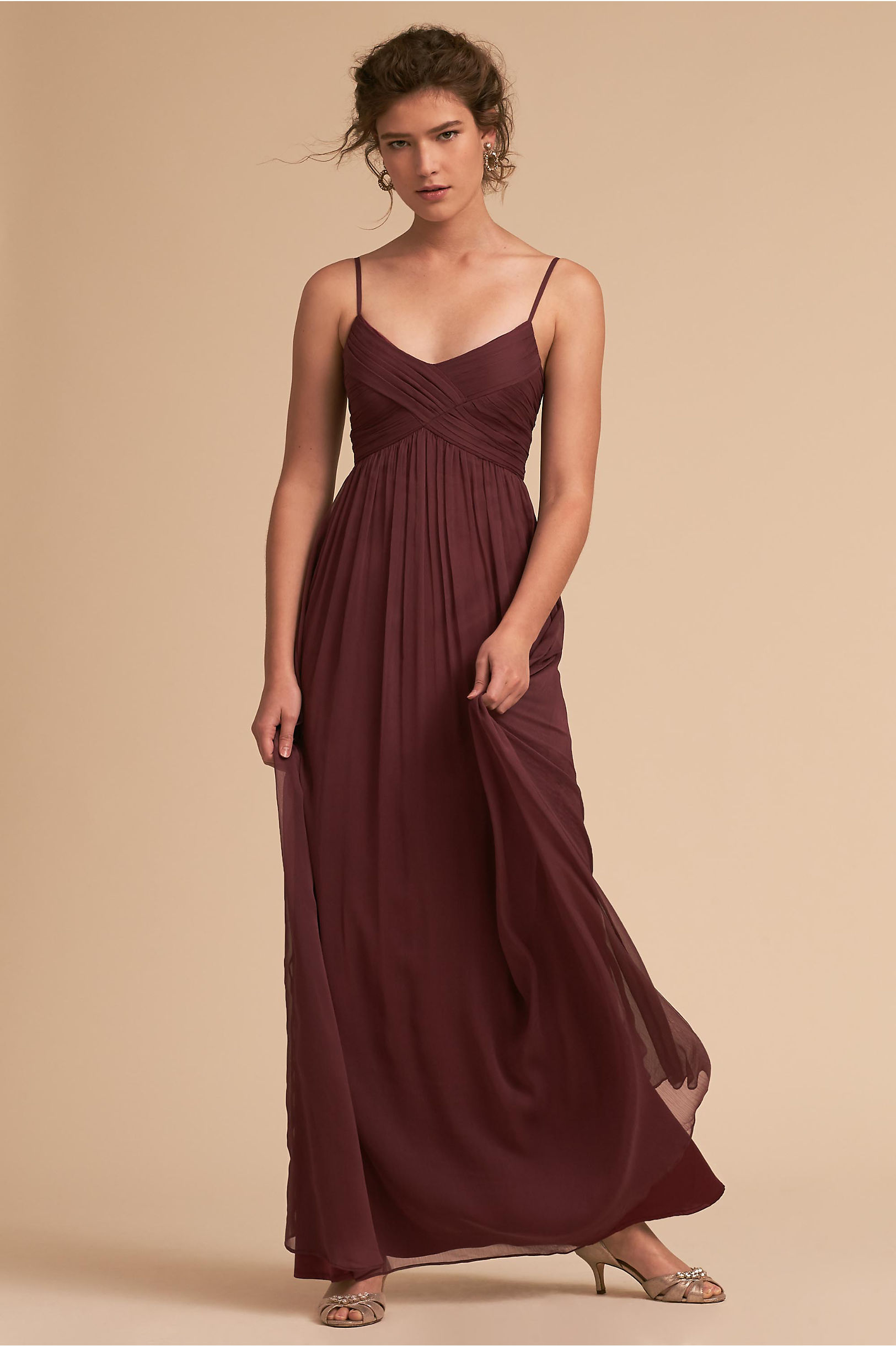 Burgundy red wine colored bridesmaid dresses bhldn brigitte dress ombrellifo Gallery