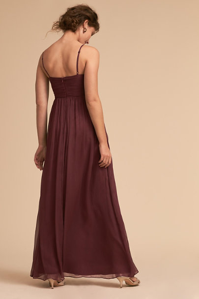 BHLDN Burgundy Brigitte Dress | BHLDN