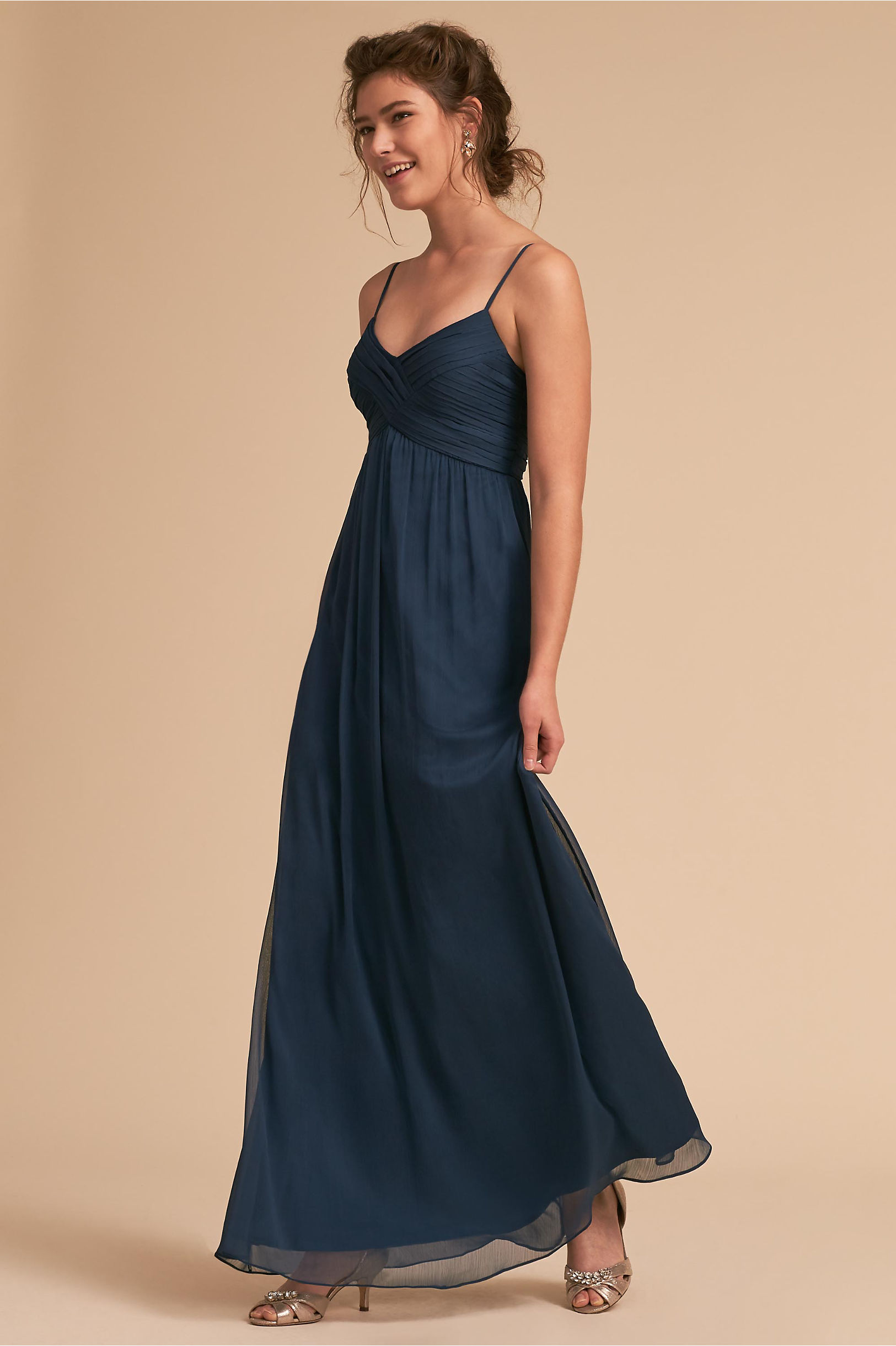 Brigitte Dress Navy in Sale | BHLDN