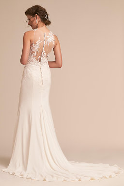 Backless wedding dresses low back wedding gowns bhldn kellyn gown kellyn gown junglespirit Image collections