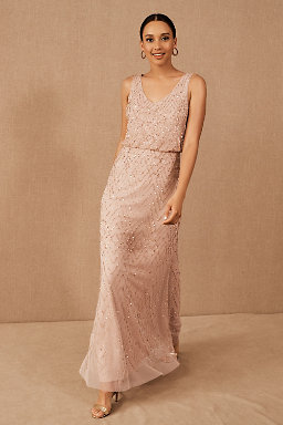 Blaise Dress Sandstone/Blush.