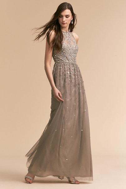 BHLDN Silver Grey Ginny Dress | BHLDN