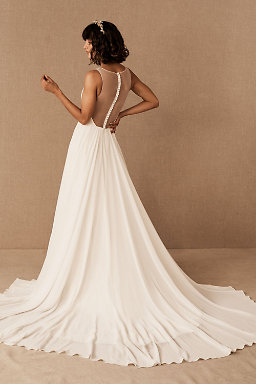Backless wedding dresses low back wedding gowns bhldn conrad gown conrad gown junglespirit Image collections