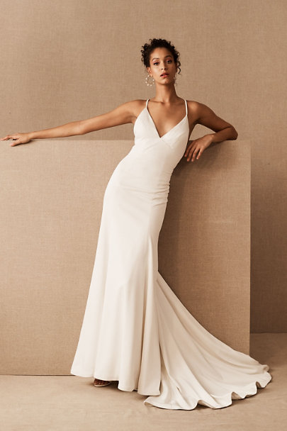 Jenny Yoo Ivory Estelle Gown | BHLDN