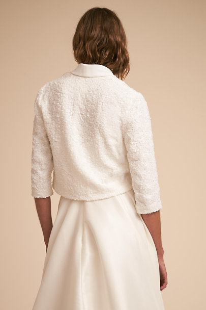 Jenny Yoo Ivory Hyatt Jacket | BHLDN