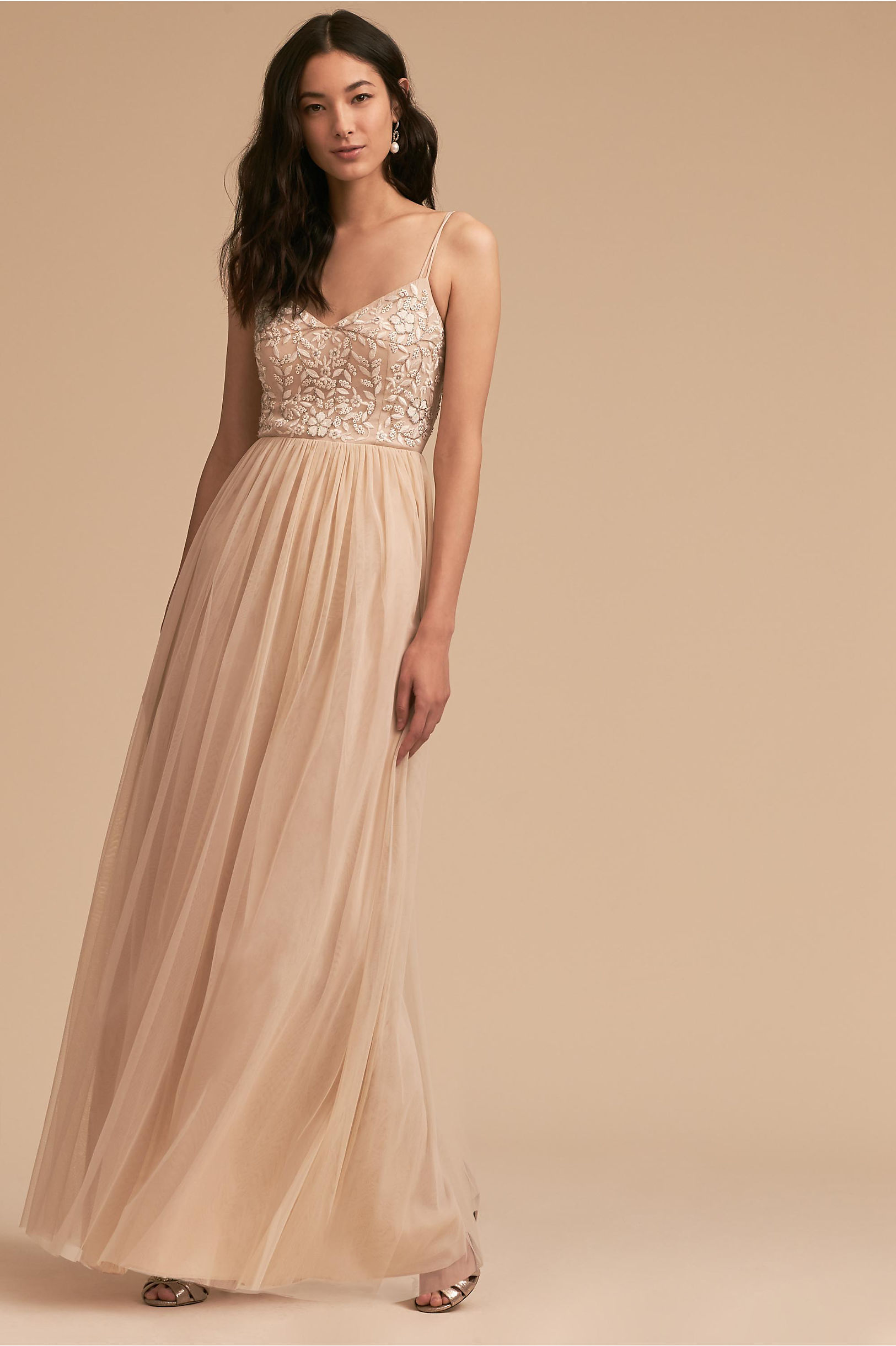 Elowen Dress Oyster in Occasion Dresses | BHLDN