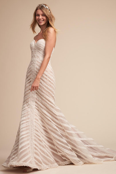 Whispers & Echoes Ivory Waverly Gown | BHLDN