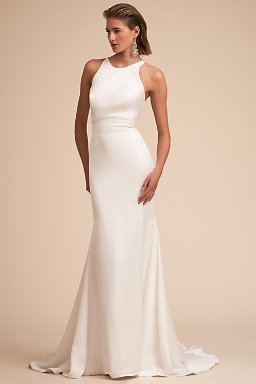 Modern wedding dresses structured gowns bhldn loretta gown junglespirit Choice Image