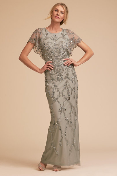 Adrianna Papell Blue Mist Riesling Dress | BHLDN