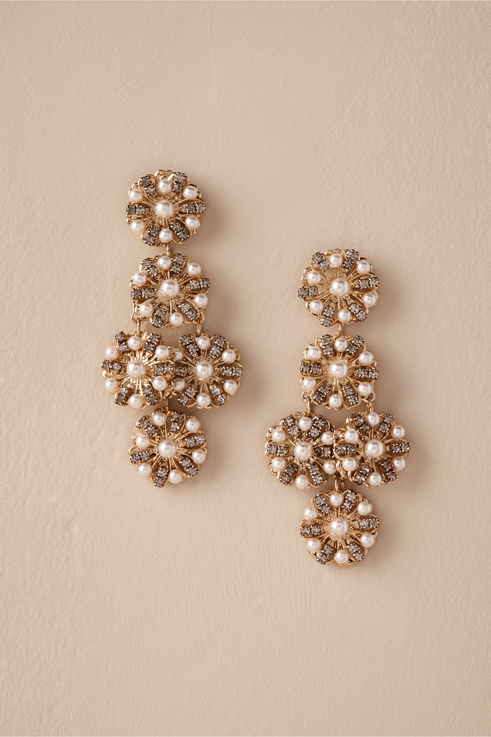 Salma Chandelier Earrings Gold in Bride | BHLDN