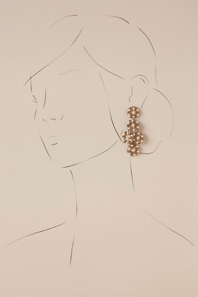 Elizabeth Bower Gold Salma Chandelier Earrings | BHLDN