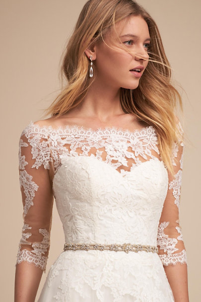 Blossom Veils Gold Nyra Fitted Sash | BHLDN