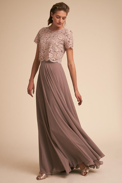 Jenny Yoo Mink Grey Kenzie Top | BHLDN