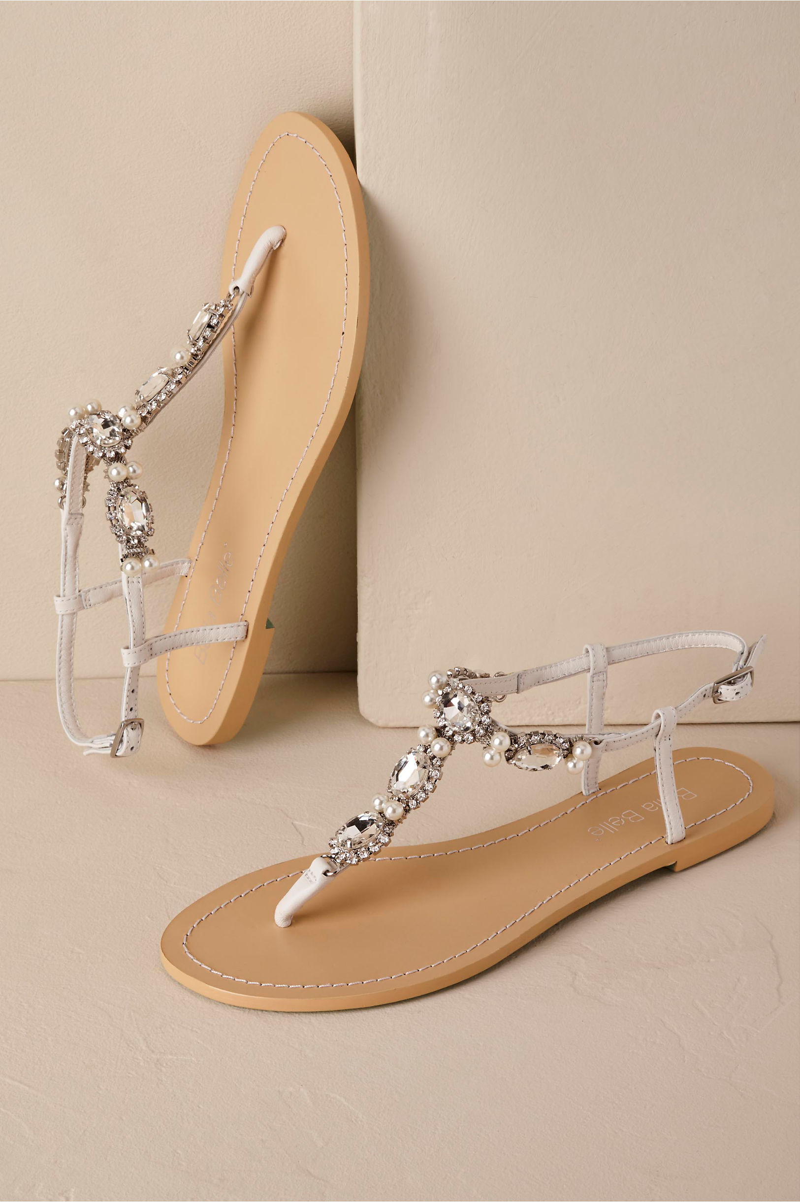 Flat wedding shoes bridal flats bhldn hera sandals junglespirit
