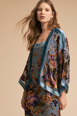 Perry Burnout Velvet Jacket