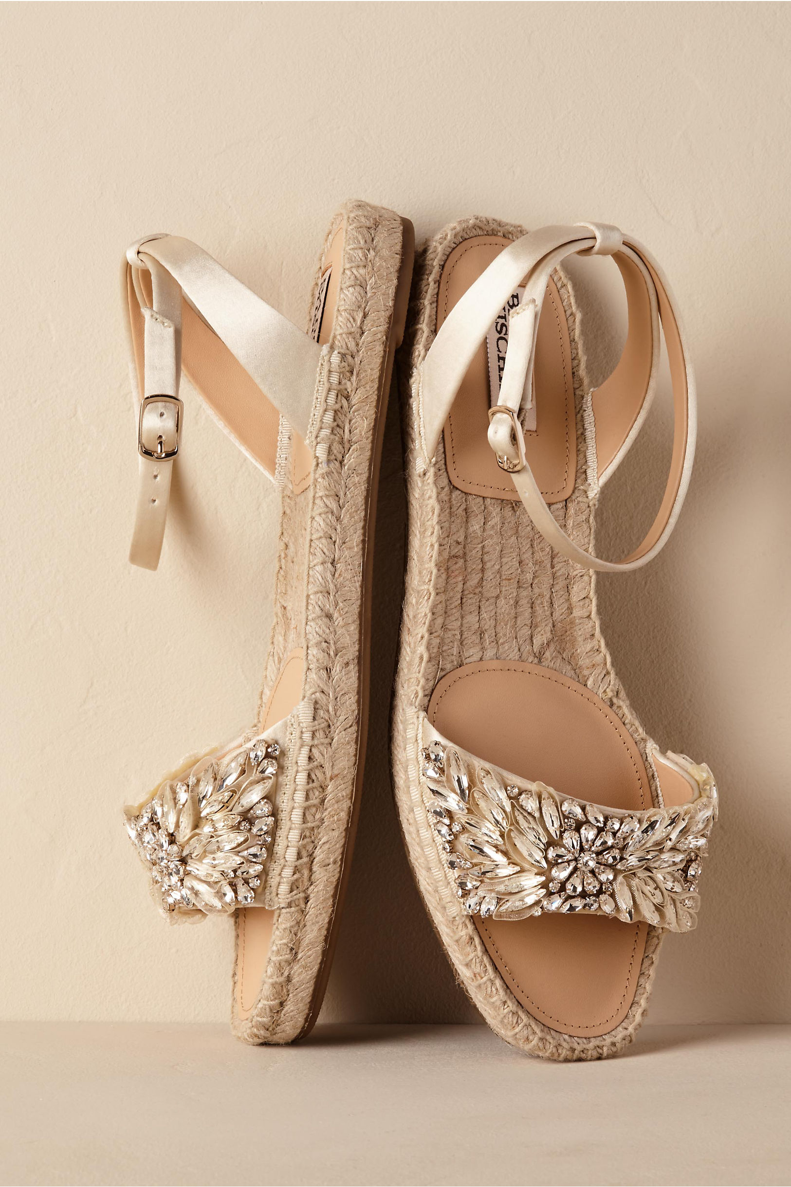 Flat wedding shoes bridal flats bhldn satine espadrilles junglespirit Choice Image