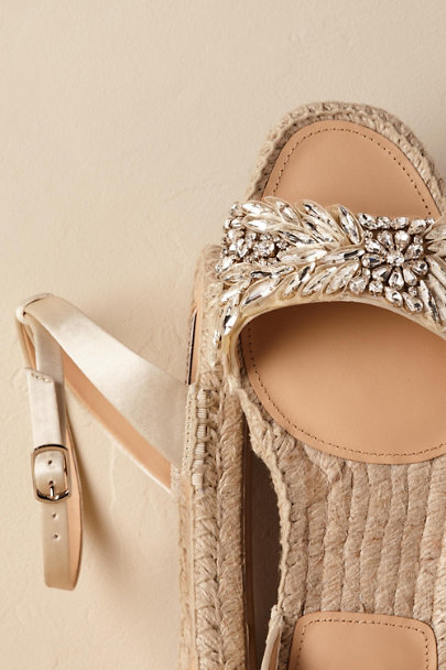 Badgley Mischka Cream Satine Espadrilles | BHLDN