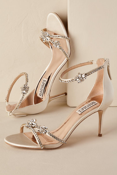 Badgley Mischka Gold Hobbs Heel | BHLDN