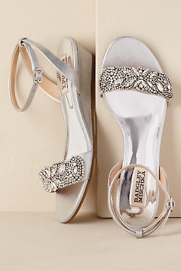 silver wedge wedding shoes wedding shoes silver amp ivory wedding shoes bhldn 7470