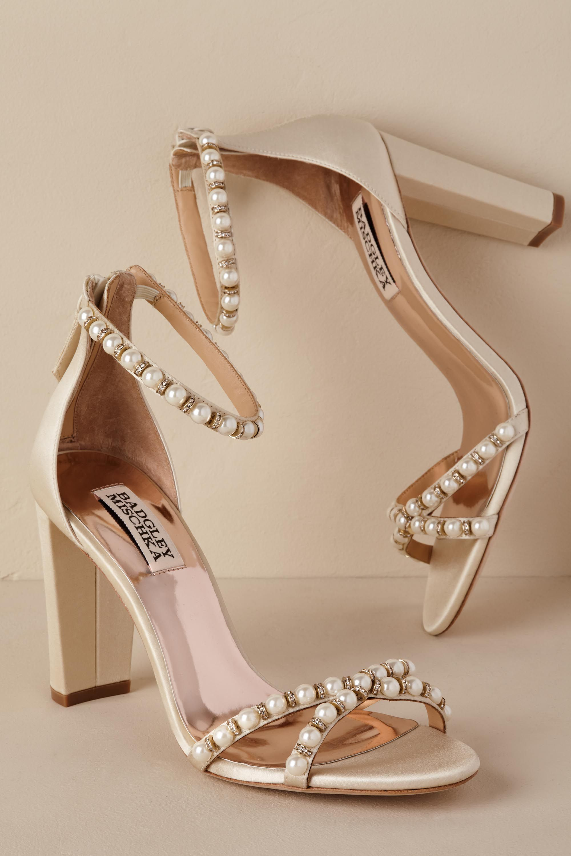 Pearl Block Heel