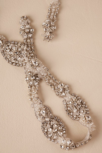 Blossom Veils Silver Preston Fitted Belt | BHLDN