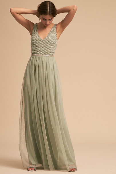 Adrianna Papell Aqua Mist Bryce Dress | BHLDN
