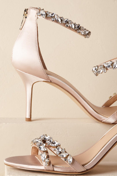 Badgley Mischka Cream Jewel by Badgley Mischka Gia Heels | BHLDN