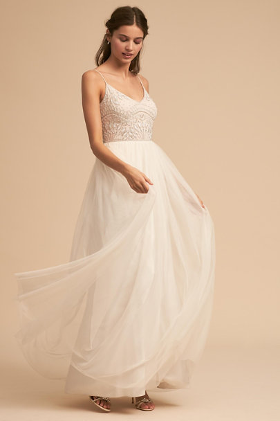 Adrianna Papell Ivory Violetta Dress | BHLDN