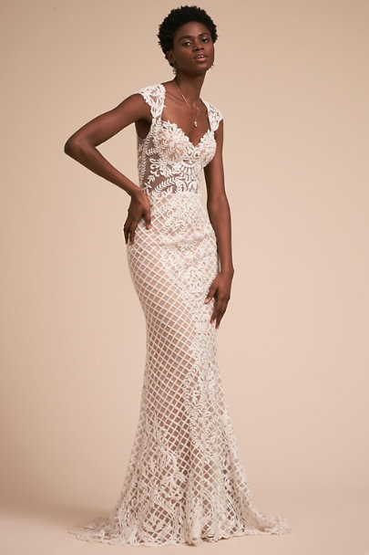 Terani Couture Ivory Sansa Gown | BHLDN