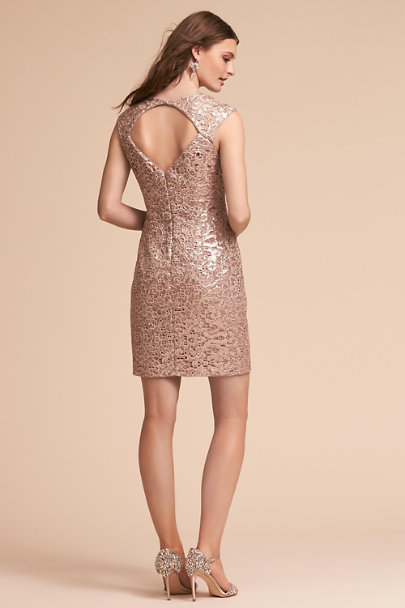 Aidan Mattox Gold Kessler Dress | BHLDN