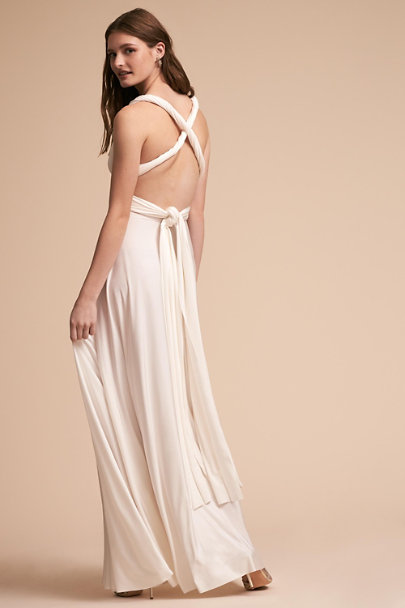 twobirds White Ginger Convertible Maxi Dress | BHLDN