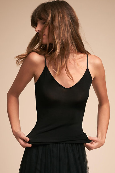 Tracy Reese Black Bare Camisole Top | BHLDN