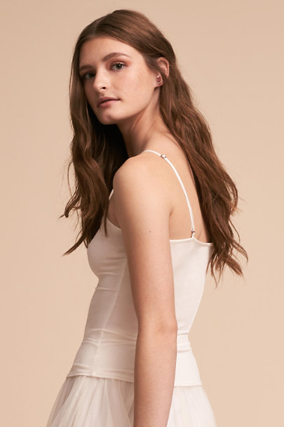 Tracy Reese White Bare Camisole Top | BHLDN