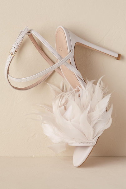 Pour La Victoire Ivory Annette Feather Heels | BHLDN