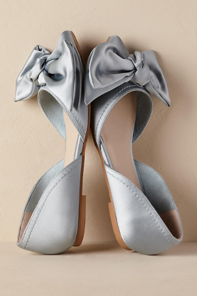 flat wedding shoes for bride into the blue flats in bhldn 4099
