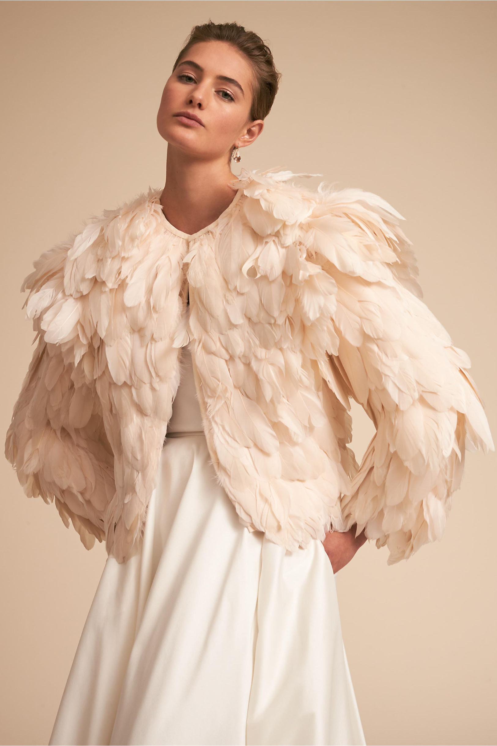 Ramsey Feather Jacket in Sale | BHLDN