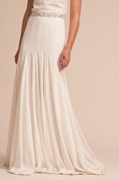 Katie May Ivory Kyle Skirt | BHLDN