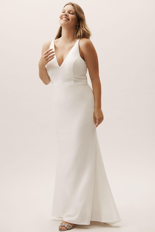 9735946942e6b Jones Dress Ivory in Bridesmaids & Bridal Party   BHLDN